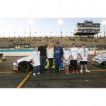 Random image: Chandra, Jimmie and Jarit Johnson along with special guests from local partner programs before the start of the Jimmie Johnson Foundation 150 (Phoenix, 2008).