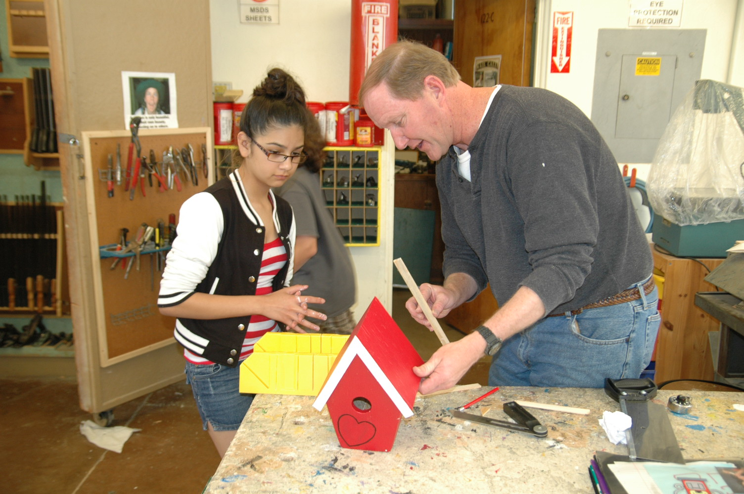 Jimmie Johnson Chevy >> Marston Middle School shop class using some of their new tools (San Diego, 2010)   Jimmie ...