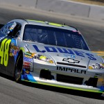No. 48 Lowe's/Jimmie Johnson Foundation 5th Anniversary Chevy Impala on the track in Sonoma (Sonoma, 2011)