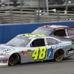 No. 48 Lowe's/Jimmie Johnson Foundation Chevy Impala racing at Sonoma (Fontana, 2012)