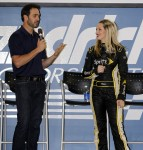 A Q&A with Jimmie and Miss Sprint Cup, Kim Coon (Charlotte, 2012)