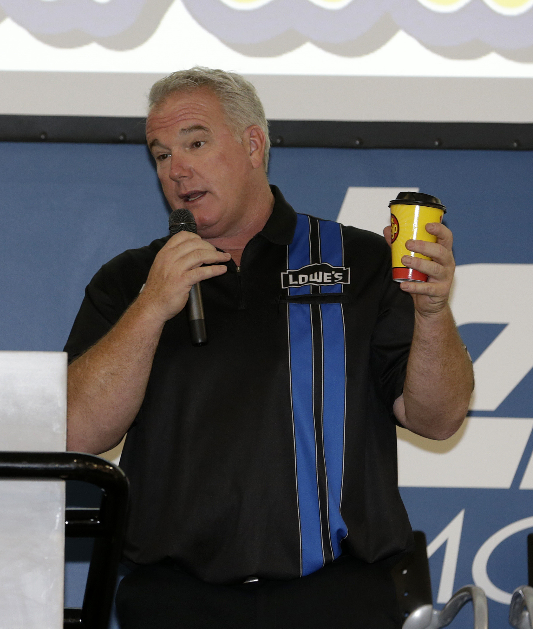 Jimmie's spotter Earl Barban made a surprise appearance, to the delight of all of the fans! (Charlotte, 2012)