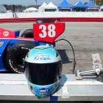 Blue Bunny Helmet of Hope with Graham Rahal's Indy Car (Indianapolis, 2012)