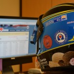 Blue Bunny Helmet of Hope hard at work at the Fisher House (Rockville, 2012)