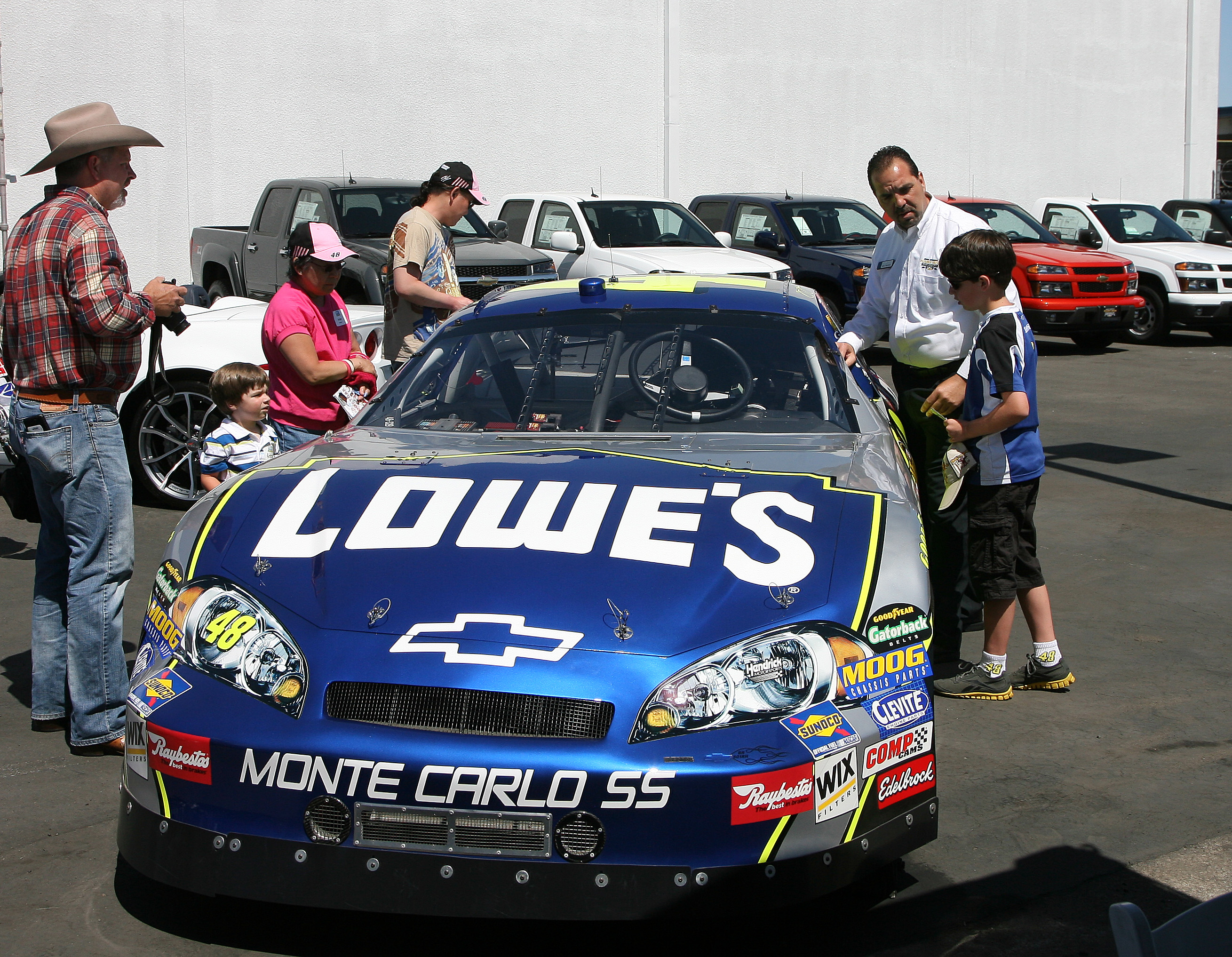 Fans enjoyed checking out the No. 48 Show Car (San Diego, 2012)