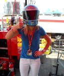 Graham Rahal Foundation Team Member with the Blue Bunny Helmet of Hope (Indianapolis, 2012)