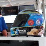 Blue Bunny Helmet of Hope in Graham Rahal's Pit Box (Indianapolis, 2012)