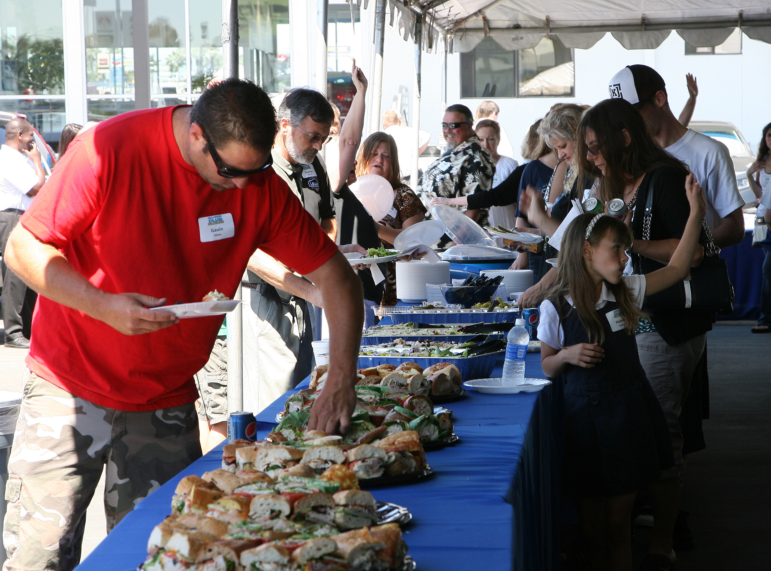 All-Star Club members enjoyed the food from Lil Pepper Deli (San Diego, 2012)