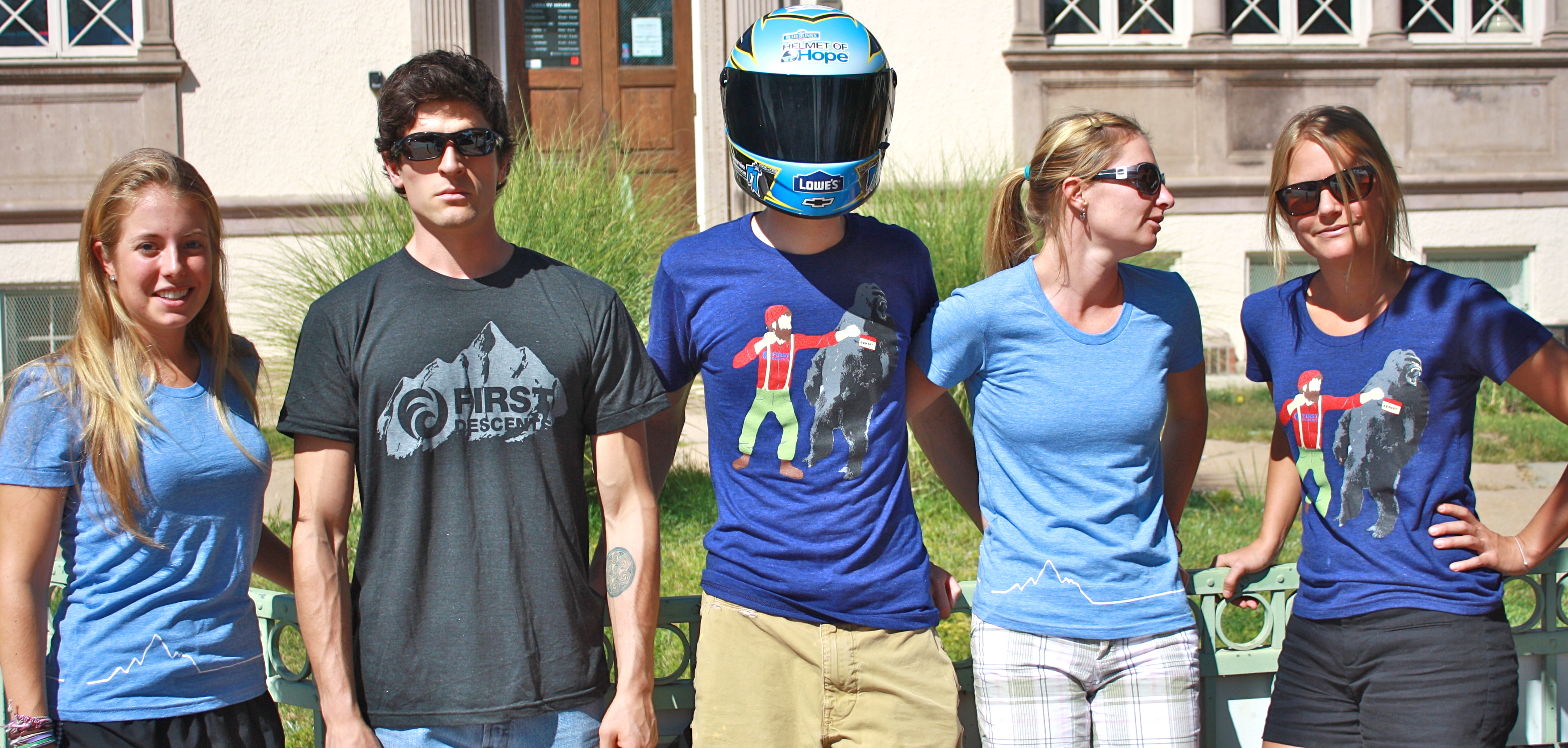 First Descents Staff with the Blue Bunny Helmet of Hope (Denver, 2012)