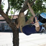 Blue Bunny Helmet of Hope Hanging Out at First Descents (Denver, 2012)