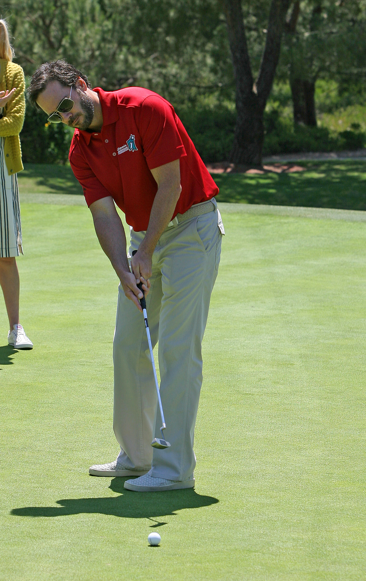 Jimmie practicing his putting (San Diego, 2012)