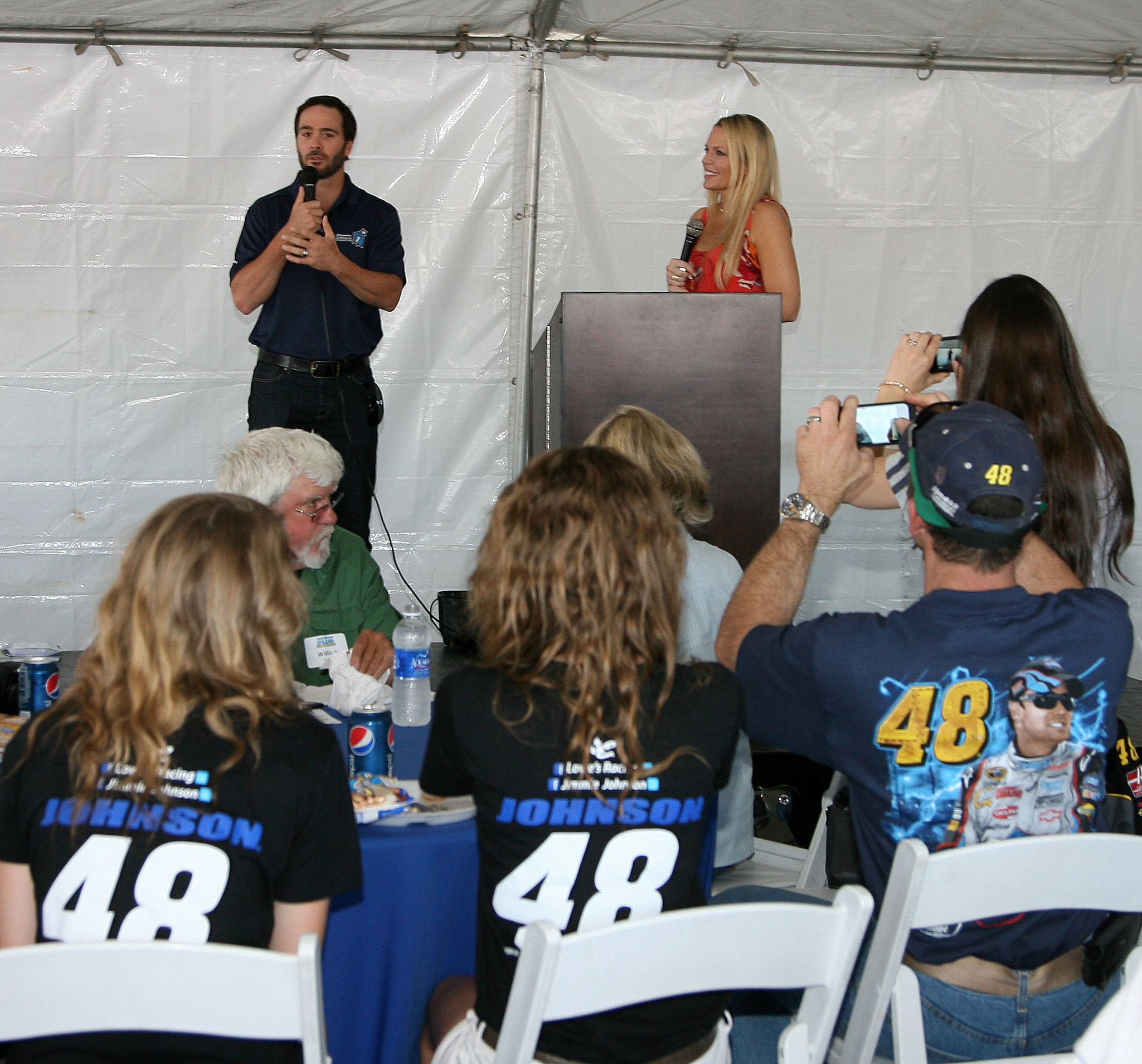 Emcee Laura Cain with Jimmie at Foundation Fest: (San Diego, 2012)