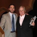 Jimmie with Star of the Year Award winner and team owner, Rick Hendrick (San Diego, 2012)