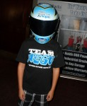 Jessie Rees Foundation supporter wearing the Blue Bunny Helmet of Hope  (Rancho Santa Margarita, 2012)