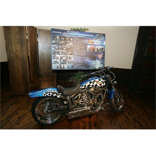 The live auction included a Jimmie Johnson Foundation/Sunoco custom built motorcycle (San Diego, 2008).