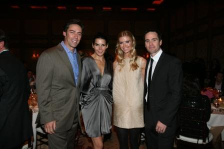 Jason Sehorn and Angie Harmon joined the Johnsons for the event (San Diego, 2009).