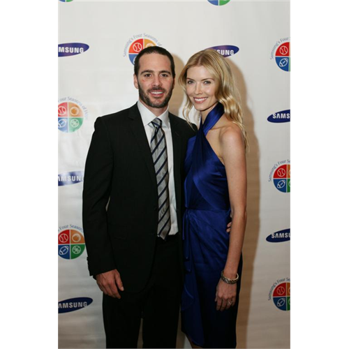 Chandra and Jimmie Johnson at Samsung's Four Seasons of Hope Gala (NYC, 2009)