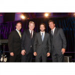 Samsung President for Consumer Business Division, Tim Baxter, Boomer Esiason, Jimmie Johnson, and Dan Marino at the Samsung Hope for Children Gala (NYC, 2010)
