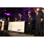 $1.2 Million check presentation for all Samsung Hope for Children charities (NYC, 2010)