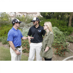 Chandra and Jimmie catch up with NASCAR driver and friend, Casey Mears at the Golf Tournament (San Diego, 2010).