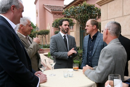 Jimmie greets guests at the tournament dinner and auction. (San Diego, 2011).
