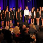 The Grossmont High School choir performs at the tournament dinner and auction. (San Diego, 2011).