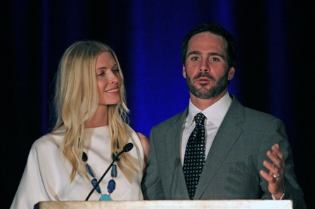 Jimmie and Chandra thank everyone for supporting the foundation. (San Diego, 2011)
