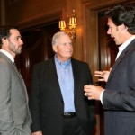 Jimmie, Jason Sehorn and Rick Hendrick at the tournament dinner and auction. (San Diego, 2011).