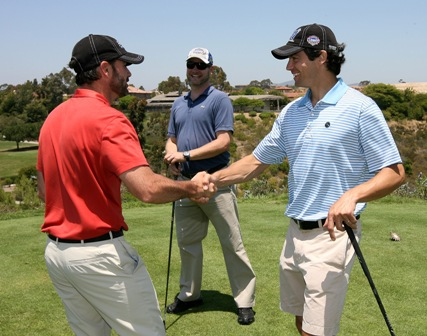 Jimmie greets participants at the 5th Annual JJF Golf Tournament. (San Diego, 2011)