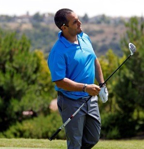 Juan Pablo Montoya, NASCAR driver and friend, participated in the tournament again this year. (San Diego, 2011)