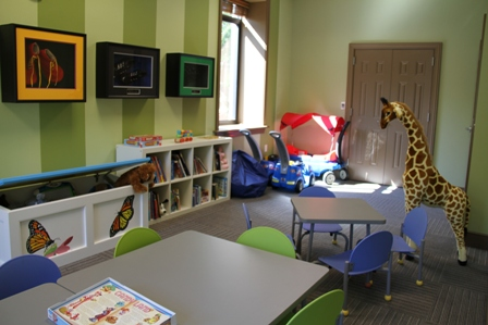 Ronald McDonald House of Charlotte Toddler Playroom, funded by Chandra and Jimmie Johnson, teammates Jeff Gordon and Dale Earnhardt, Jr. and team owner Rick Hendrick.