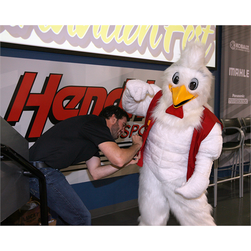 The Bojangles chicken wanted an autograph, too (Foundation Fest: (Charlotte, 2011)