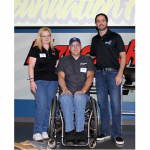 Jimmie with Jeff Huzway, the Choose Your Own Chevy Raffle winner, and his wife Linda (Charlotte, 2011)