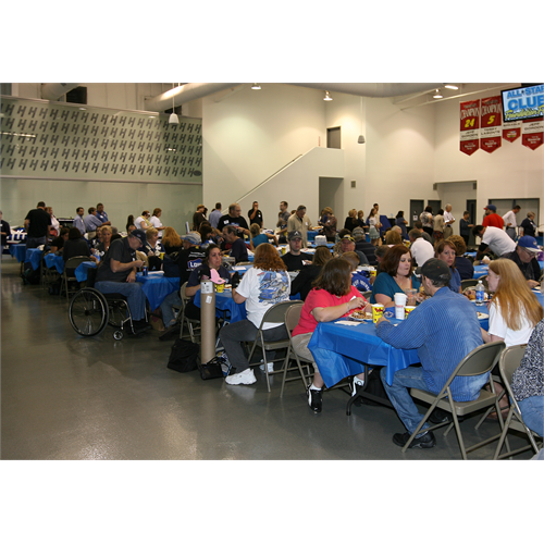 Fans enjoying their lunch - provided by Bojangles - as they wait for Jimmie to arrive (Foundation Fest: (Charlotte, 2011)