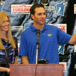 Random image: Chandra and Jimmie Johnson announce the 2009 Champions Grant Awards at Crest Elementary School (November 30, 2009 - El Cajon, CA. Photo Credit: Todd Warshaw/Getty Images for NASCAR).