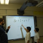 Students learning math at Collinswood Language Academy (Charlotte, 2009)