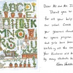 Thank you card from Creek Elementary (Muskogee, 2009)