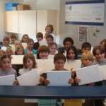 Crest Elementary students with their new iMacs (El Cajon, 2009)