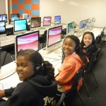 Fulton Elementary students enjoying their new iMacs (San Diego, 2010)