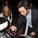 Jimmie signing the engine build by Crawford HS students (San Diego, 2009)