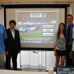 Mission Bay HS students show off the video game they created with their new computers (San Diego,  2010)