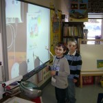 RB McAllister students using their new SMARTboard (Concord, 2009)