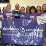 The helmet visits with Alzheimer's Association Florida Gulf Coast Chapter staff (Clearwater, 2012)