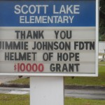 Scott Lake Elementary thanks the foundation (Lakeland, 2012)