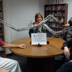 BBHOH helping out with a Radio Reading Services session at CABVI (Cincinnati, 2013)