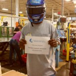 The helmet assisting in the CABVI Industry Services department (Cincinnati, 2013)