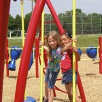 Students enjoying the new Smithfield Elementary playground (Charlotte, 2009)