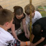 Tony Goetz students enjoying their garden (Muskogee, 2009)