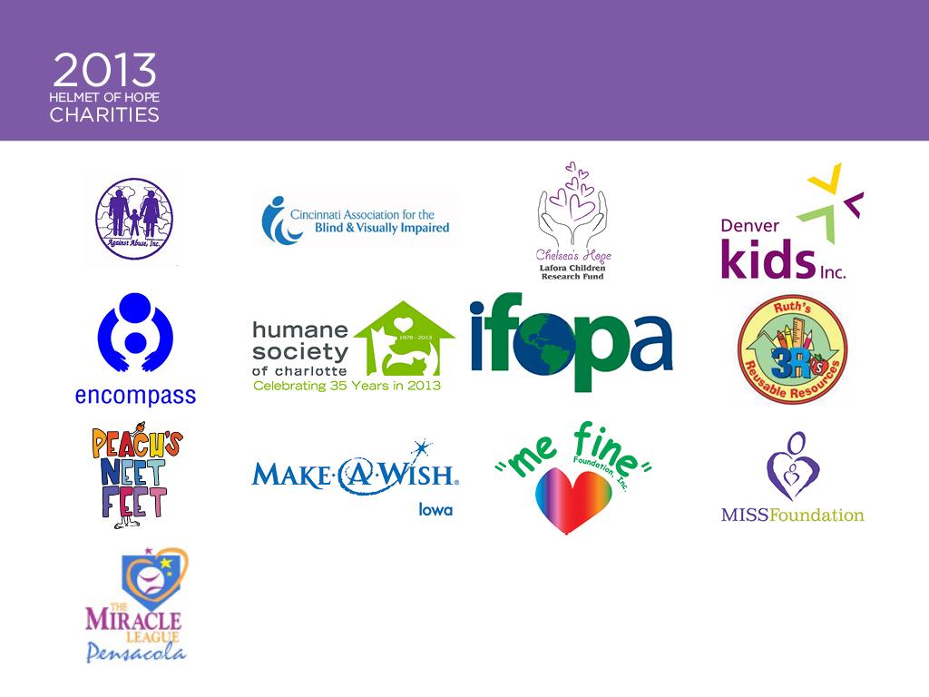 2013 Helmet of Hope Charities